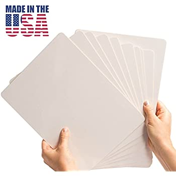 Dry Erase Lapboard Set (10 Pieces), Made in USA, Double Sided 9 x 12 Inch Classroom Whiteboard Pack for Student Drawing and Writing