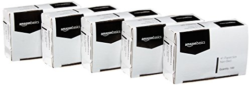 AmazonBasics No. 1 Paper Clips, Nonskid, 100 Clip per Box, 10-Pack