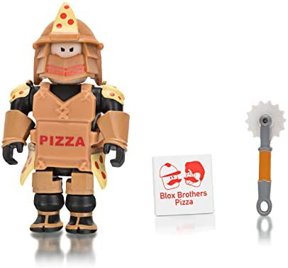 Amazon Com Roblox Loyal Pizza Warrior 2 75 Inch Figure With Exclusive Virtual Item Code Toys Games
