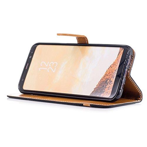 Carte Galaxy Cover Avec Étui A520F de PU Wallet Coque ovale Protection pouces Qualité 2 Case Housse Samsung Long 5 2017 Cuir Nancen Haute Crédit Fente de SM 8 A5 Muster Jeans coque Flip Portefeuille Fermet 4qxWFB5nwS