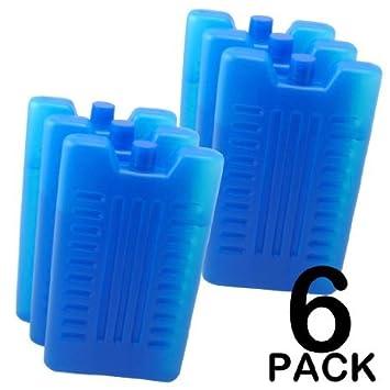 6 unidades de bloques de congelación para mantener comida y ...