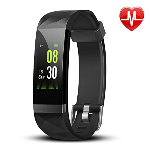 Letsfit Fitness Tracker, Activity Tracker Watch with Heart Rate Monitor, IP68 Waterproof Fitness Wristband with Step Counter, Calorie Counter, Smart Watch for Kids, Women and Men (Fitness Tracker Wrist Bands)
