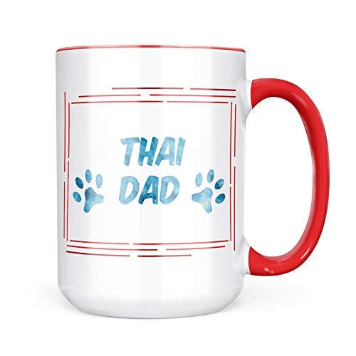 Neonblond Custom Coffee Mug Dog & Cat Dad Thai 15oz Personalized Name