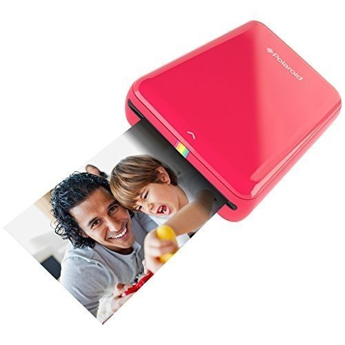 Polaroid ZIP Handydrucker mit ZINK Zero tintenfreier Drucktechnologie - Kompatibel mit iOS- & Androidgeräten - Rot