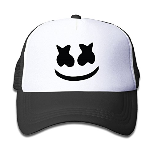 Teen Youth Marshmello Face Baseball Hat Mesh Back Trucker Cool  3 Colors