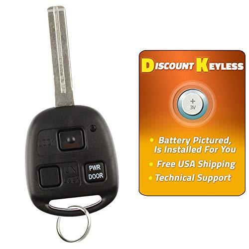For 04-10 Lexus RX330 RX350 EX400h RX450h Keyless Entry Remote Key Fob W/Uncut Blade HYQ12BBT, 1511A-12BBT, 89785-50031