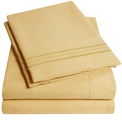 1500 Supreme Collection Extra Soft California King Sheets Set, Camel - Luxury Bed Sheets Set With Deep Pocket Wrinkle Free Hypoallergenic Bedding, Over 40 Colors, California King Size, Camel