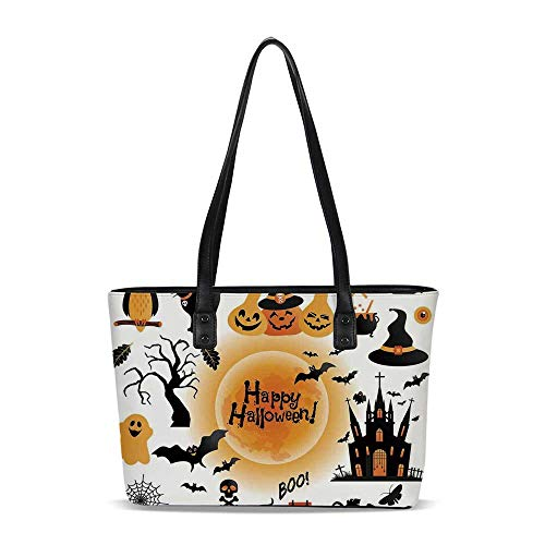 Halloween Decorations Fashionable Shoulder Tote Bag,for Women 13.9