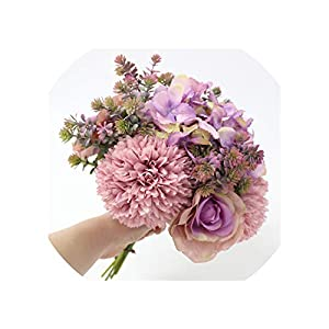 Wedding Simulation Flower Bouquet Decoration Fake Flowers Table Light Luxury Flower Row Home Living Room Floral Decoration,Rose Red 105