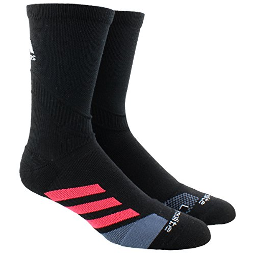 Socks Crew Tennis Adidas (adidas Traxion Tennis Crew Socks (1-Pack), Black/Shock Red, Medium)