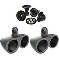 Kicker Wake Tower System 12KMTED w/ 6.75 41KMS674C Speakers
