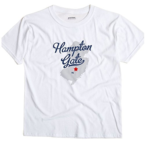 Hampton Gate New Jersey NJ MAP GreatCitees Unisex Souvenir T (Hampton Gate)