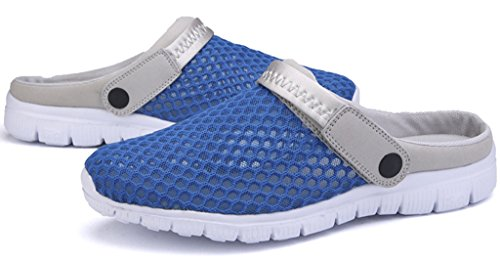 Eagsouni Men Women Slip On Clogs Casual Slide Comfort Mule Sandals Shoes Size Blue y9WzD9V