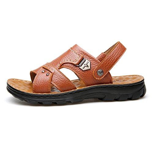 Scarpe Spiaggia Usura Per Di Degli Pantofole Da Estive Casual Sport Yr Sandali Uomini Di r Cuoio Due Scarpe Yellow Esterno Reali Antiscivolo 7qUvAC4