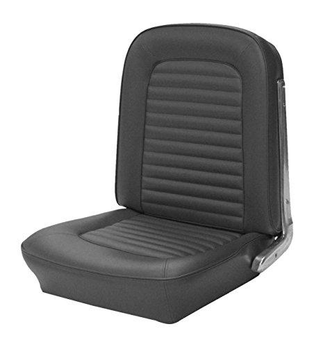 Fastback Upholstery - TMI 43-72225-958 Mustang Black Sierra Grain Vinyl Full Set Upholstery (Fastback)