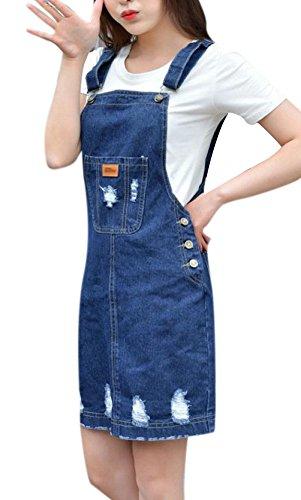 Womens Stretch Suspender Skirt Pockets