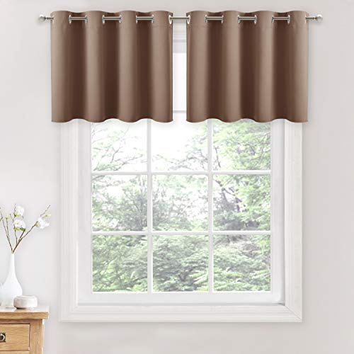 Mua Nicetown Blackout Curtains For Small Window Grommet Top Window Treatment Blackout Panel Drapes For Bedroom Cappuccino 2 Pcs W52 X L18 1 2 Inches Header Tren Amazon Mỹ Chinh Hang 2020 Fado