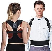 OMERIL Corrector Postura Espalda, Corrector de Postura Ajustable y Respirable para Espalda, Hombros y Clavícula, 2...