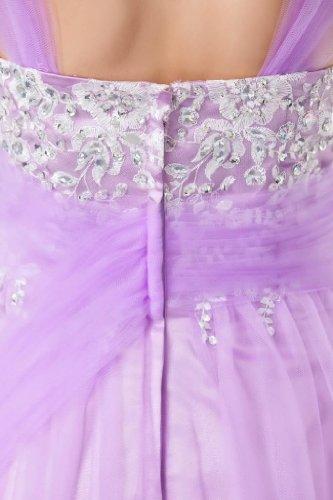 Partei Applikationen Einfache BRIDE Kleid Tuell GEORGE Lavendel IUPHqBI