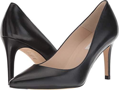 - L.K. Bennett Women's Floret Black Nappa Leather 41 M EU