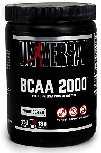 UniversalNutritionBCAA2000PureCapsules,FreeFormBCAAswithCo-Factors,120-CountBottles