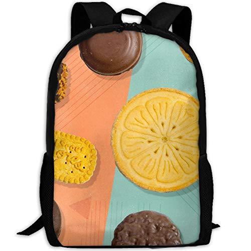 Webb Backpack Laptop Travel Hiking School Shoulder Bag Biscuits Cookies Daypacks (Cookie Diaper)