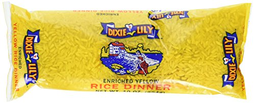 Dixie Lily Enriched Yellow Rice Dinner, 10 Ounce (Pack of 12) by Dixie