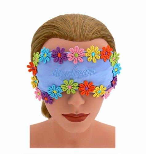 Daydream Dormir máscara Dormir Gafas Dormir ojos Máscara Ojos Máscara Flores Flores Flowers Blue con máscara refrigeración Cojín: Amazon.es: Hogar