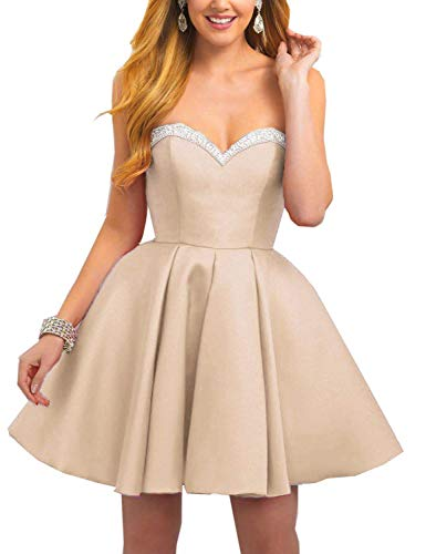 BessWedding Beaded Homecoming Champagne Gowns Prom Short Women's 2019 Dresses BHS101 11Aqa