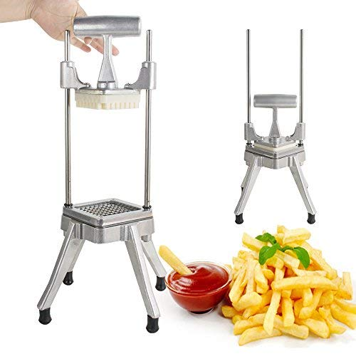 Lolicute Fruit Vegetable Cutter,Stainless Steel Professional Quick Slicer Machine Restaurant Commercial Vegetable Fruit Dicer Onion Tomato Slicer Chopper for Peppers Potatoes Mushrooms