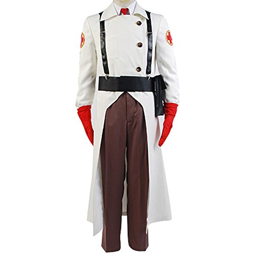 (CosplaySky Team Fortress 2 Medic Cosplay Halloween Costume)