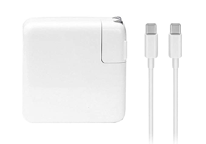 61W USB-C Power Adapter Charger, with USB-C to USB-C Charge Cable