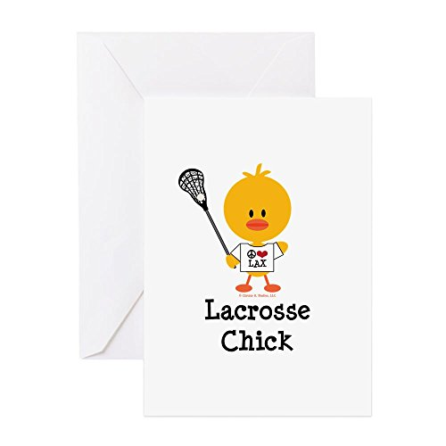 Lacrosse Note Card - CafePress - Lacrosse Chick - Greeting Card, Note Card, Birthday Card, Blank Inside Glossy