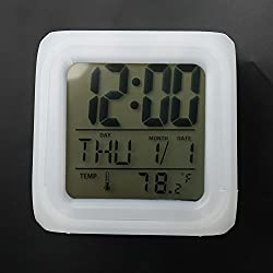 Firtink New 7 Colors LED Alarm Clock Color Changing Digital Alarm Clock with Multi-function Creative Useful for People
