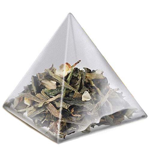 Moligh doll 1000Pcs5.5 X 7Cm Pyramid Tea Bag Filter Nylon Tea Bag Single String Label Transparent Empty Tea Bag by Moligh doll