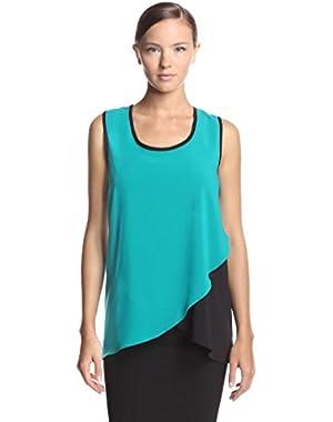 Calvin Klein Women's Tulip Colorblocked Sleeveless Top
