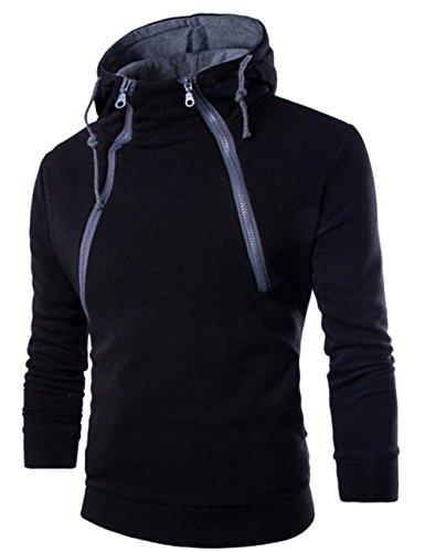 Generic High Collar Men's Jacket Slim Dust Coat Hoodie Clothes Sweater Overcoat
