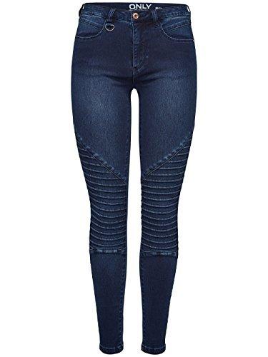 Oscuro De Dnm licras Jeggings Skinny Vaqueros Moto Mujer Pantalones Leggings Onlroyal Bj11502 Reg Azul q6wvT5C