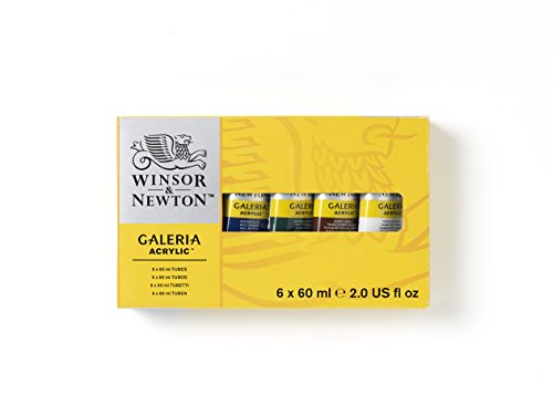- Winsor and Newton 60-Milliliter Galeria Acrylic Paint, 6-Pack, Assorted (2190516)