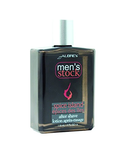 Aubrey Organics Men's Stock Aftershave * ALL NATURAL * Spice Island Scent (Mens Stock Spice)