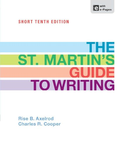 The St. Martin's Guide to Writing Short Pdf