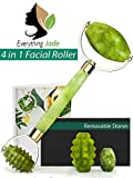 Facial Massage Jawline - Jade Roller for Face Massager with Interchangeable Jade | 100% Natural Jade Facial Roller Anti Aging Therapy | Clears Toxins & Reduces Puffiness | Customize Your Jade Face Roller Today.