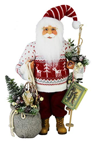 """Windy Hill Collection 16"""" Inch Standing Red Reindeer Santa Claus Christmas Figurine Figure Decoration 16827"""