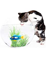 Cat Toy Water Activated LED Swimming Fish Toy with Aquatic Weed & Screwdriver Pet Supplies