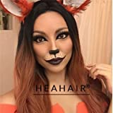 Heahair® New Fashion Straight Brown Ombre Synthetic Wig High Quality Ombre Wig for Women