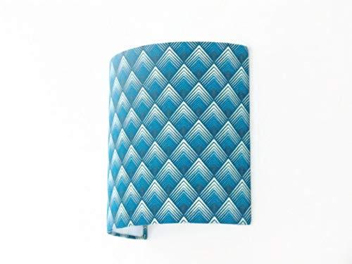 Applique murale motif art déco losanges géométriques bleu