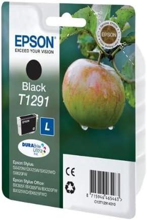 Epson Singlepack Black T1291 DURABrite Ultra Ink Negro, Inyecci/ón de tinta, 11.2 ml Cartucho de tinta para impresoras