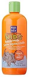 Kiss My Face Natural Kids Orange U Smart Bubble Wash, Bubble Bath and Body Wash, 12 Ounce Bottle