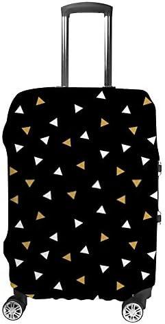 スーツケースカバー 伸縮素材 トランク カバー 洗える 汚れ防止 キズ保護 盗難防止 キャリーカバー おしゃれ 三角型 ブラックの背景 ポリエステル 海外旅行 見つけやすい 着脱簡単 1枚入り