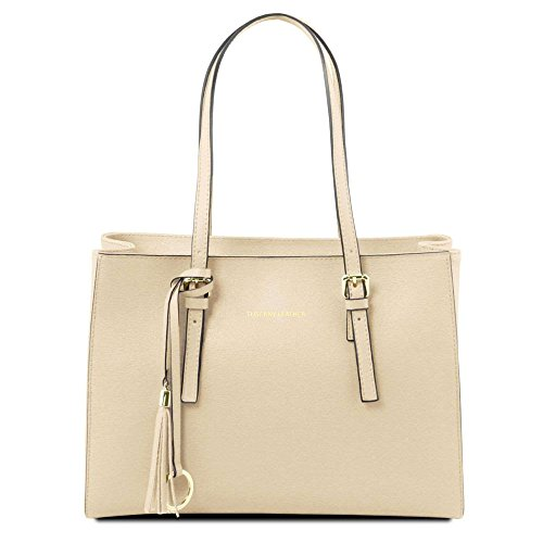 Tuscany Leather TL141518, Borsa a spalla donna Bianco bianco compact